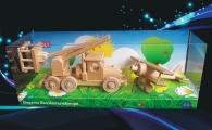 Dřevěné hračky, auto plošina a dvouplošník