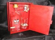 Dárek placatka na alkohol, skleněné placatky