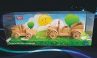 Dřevěné hračky, závodní autíčko + veterán auto