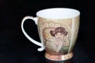 Dárkový hrnek, hrníček 0,4 l. dekorace Alfons Mucha