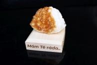 Citrín drůza minerál kámen pro štěstí dárek