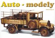 Pivovarský vůz PRAZDROJ, dokonalý dřevěný model