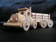 Hračka kamion s kládama - rozpojitelý