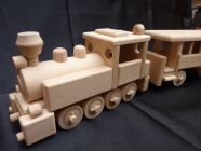 Mašinka VL 99 dřevěný vlak s vagónem