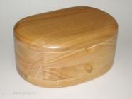 Šperkovnice se šuplíky, ledvina světlé dřevo české výroby