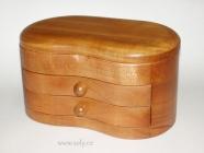 Luxusní patrová dřevěná šperkovnice, vysoká české výroby