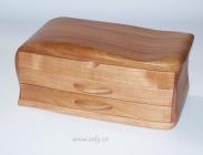 Dřevěná šperkovnice patrová