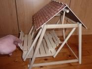 Houpačka ze dřeva - hračky pro holky