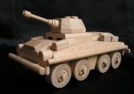 Transportér, malý tank - vojenské dřevěné hračky