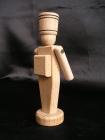 Dřevěný vojáček - hračky ze dřeva 12 cm.