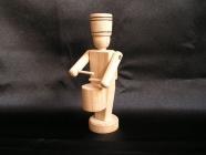 Dřevěný vojáček - bubeník, hračky ze dřeva 12 cm.