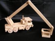 Zvedací auto vysokozdvižná plošina | dřevěné hračky