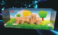 Dřevěná hračka, kamion s odpojitelným přívěsem
