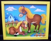 Kůň a hříbě.Dekorace do dětských pokojů.