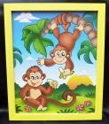 Opičky. Obraz opička na stěnu do dětského pokoje.