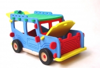 Obrovská stavebnice auto Jeep. Kombinace dřevo/pěna.