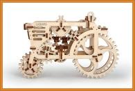 Traktor dřevěné puzzle, 3D stavebnice