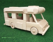 Karavan ze dřeva, pojízdný model/hračka