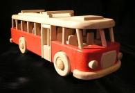 Autobus RTO hračka, červená karoserie