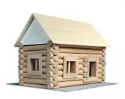 Domeček stavebnice ze dřeva, z kulatin