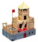 Pevnost - Hrad. Dřevěná stavebnice pro děti