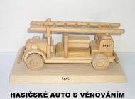 Hasičské auto na podstavě - dárky pro hasiče