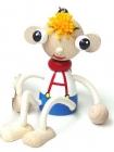 Figurka, pérák, dřevěná hračka na pružině