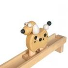 Dřevené chodící zvířátko pejsek, dřevěná hračka