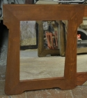 Chalupářské zrcadla v retro dřevěném rámu