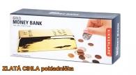 Pokladnička kasička zlatá cihla cihlička