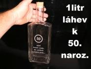 Skleněná láhev k narozeninám, 50 let