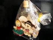 Dárkové balení láhev na alkohol folkor, svatba