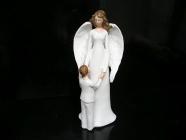 Bílý anděl maminka a dítě, sošky dekorace