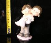 Soška ženich a nevěsta, svatební dekorace