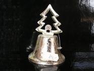 Vánoční plechový zvonek stromek