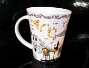 Dekorační hrnek, hrníček na kávu čaj