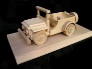 Jeep US terénní vojenské auto dárek hračka