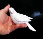 Bílý papoušek, dekorace keramika