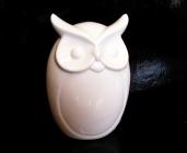 Výr, bílá sova keramická figurka dekorace