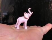 Mini keramický slon, dárek pro štěstí