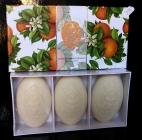 3x Luxusní vonné Italské mýdla pomeranč DÁREK