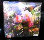 Papírové ubrousky květina dekorační s potiskem, vzorem chrpa