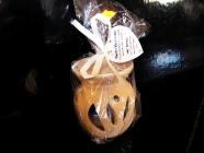Hnědá aromalampa keramická