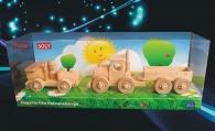 Dřevěné hračky, malé autíčko + kamion
