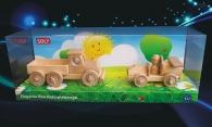 Dřevěné hračky. Dětské autíčko + náklaďáček