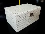 Bílá dekorační krabička, box, škatulka, truhlice, šperkovnice