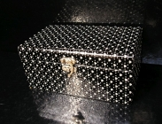 Černá dekorační krabička, box, škatulka, truhlice, šperkovnice