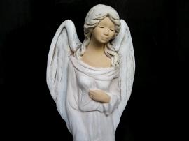 Sádrový bílý anděl, soška, dárek pro ženu