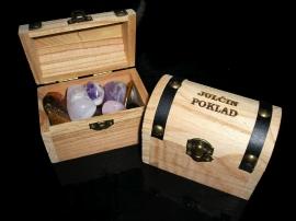Poklad pro děti, truhlička s drahými kameny dárek