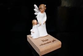 Anděl strážný s holčičkou dárek